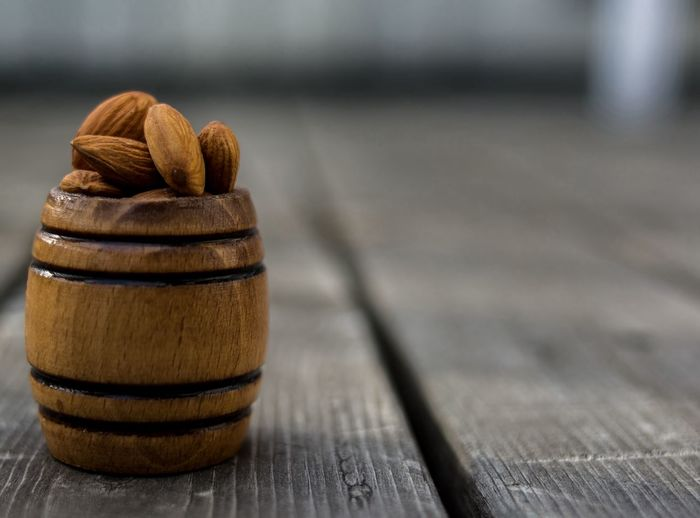 Close-Up Of Almonds