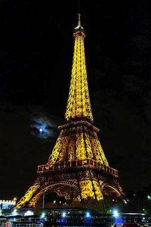 Architechture Cloudy Eiffel Eiffel Tower Moon Moon Light Night Paris Travel Destinations World Expo