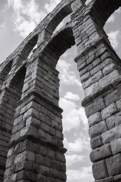 Aqueduct Ancient Ancient Civilization Architectural Column Architecture Built Structure Old Ruin Stone Wall Travel Destinations