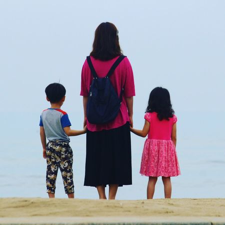 Girls Child Walking Three People Adult Togetherness Childhood Full Length Leisure Activity Daughter People Vacations Beach Red Females Outdoors Day Bonding Sky One Woman Only Close-up Wave The Week On EyeEm Connected By Travel