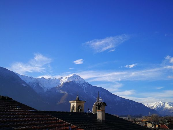 Valtellina Alps Italy EyeEm Selects Mountain Mountain Range Travel Destinations Architecture Built Structure Blue Sky Snowcapped Mountain Outdoors Nature Day Scenics Snow Building Exterior