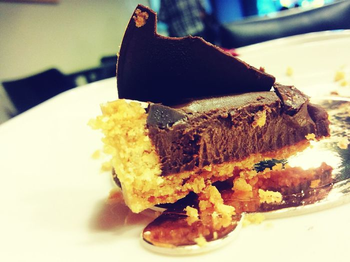 Goodbye my dear~~ Last chocolate cake:'(( The Story Behind The Picture
