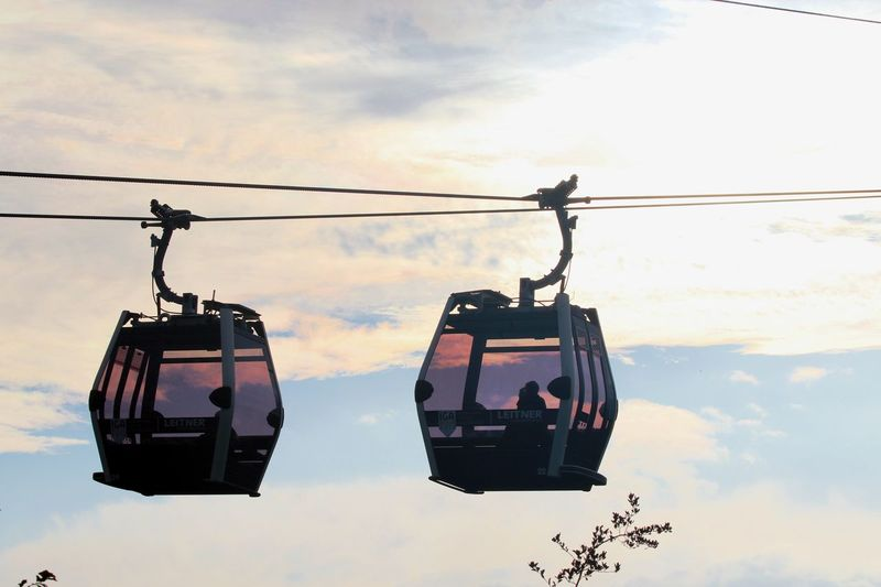 Cable Car Cable Railway Transportation Day Funicular Hanging Mid Air Outdoors Sky