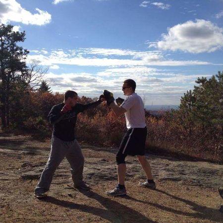 Mits on the mountain MMA MuayThai Boxing Brazilian Jiu Jitsu Bjj Lifestyle Wrestling Hiking Mountain View Woods Sky Workout Fitness Friend