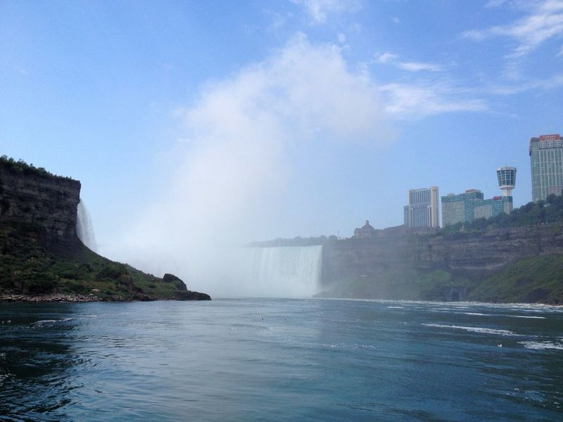 Niagra Falls Water Falls River Water Ontario, Canada Architecture Building Exterior Built Structure Waterfront City Sky Splashing Day Outdoors Nature Cloud - Sky No People Sea Power In Nature Cityscape Beauty In Nature Waterfall Lake Ontario