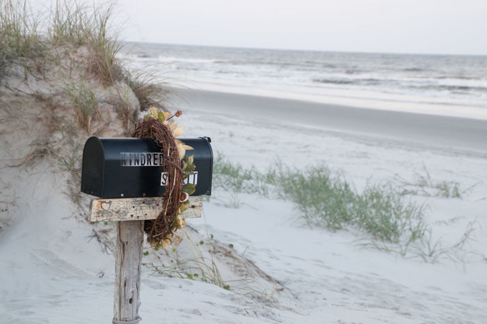 Kindred Spirit Mailbox Ocean Beach Grass Kindred Spirit Mailbox Sunset Beach Tranquility Beach Sand Tourism Travel Destinations Water