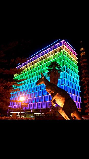 Perth, Australia lighting it up in tribute to the Fallen in Orlando... R.I.P LBGT Rainbowflag Orlando Orlando Florida Perth Perthcity Perth Australia Inremembrance Councilhouse