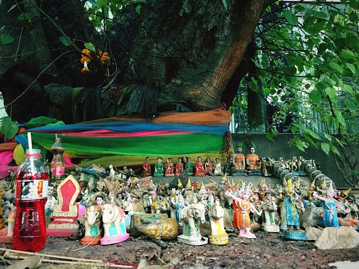 I love these whimsy shrines in Thailand. Spirit Tree Thai Spirit House Shrine Thai Shrine Spirits Spiritual Asian Culture