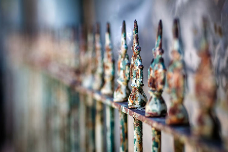 Fence Barrier Close-up Day Fence Iron Fence Ironwork  Metal No People Outdoors Rusty Street Street Photography Streetphotography
