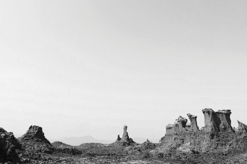 Salt Mountain Dalol Danakil Depression Afar Blackandwhite Landscape Ethiopia Africa Desert Sculpture Mountain Sky Arid Landscape The Great Outdoors - 2019 EyeEm Awards