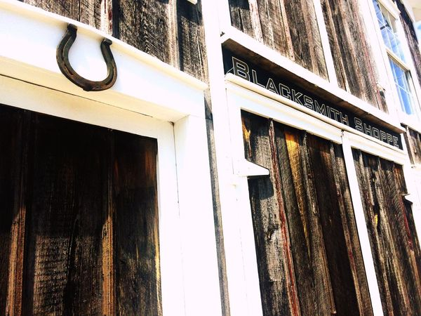 Small Town Blacksmith  Horseshoe MidWest Wood Grain Shop Signs Main Street Main Street USA Lexington, IL Route 66