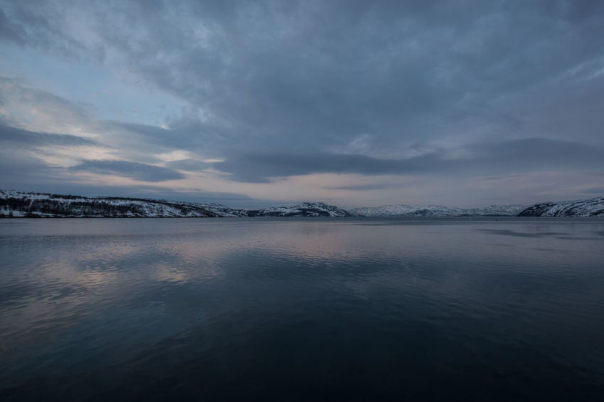 Arctic Beauty In Nature Cloud Cloud - Sky Idyllic Kirkenes Landscape Lapland Majestic Mountain Range Nature No People Non-urban Scene Norway Outdoors Polar Night Remote Scenics Sky Tranquil Scene Tranquility Travel Destinations Water Winter Wintertime