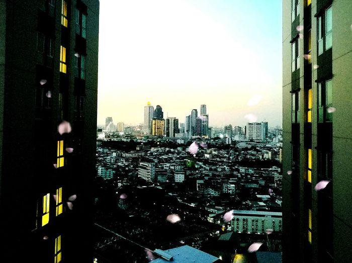 Open your eyes . Skyscraper Building Exterior Architecture Cityscape Urban Skyline Cloud - Sky Bankgkok