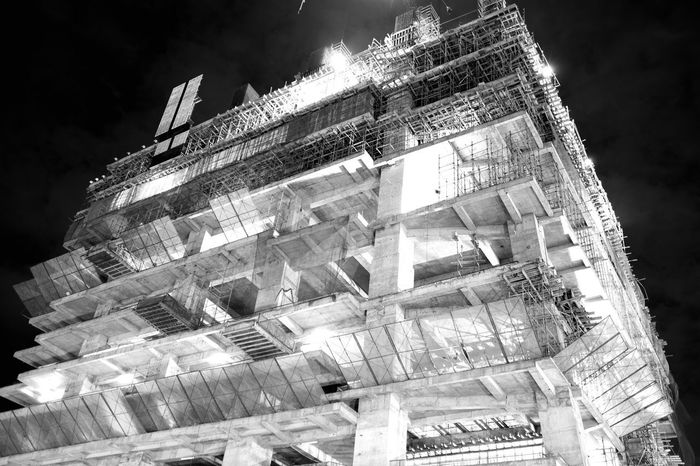 Black And White Friday Low Angle View Architecture Built Structure Building Exterior Night