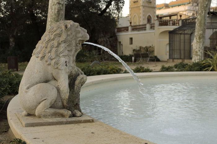 Palau falguera Agua Estatua Fuente Jardin Palau Falguera