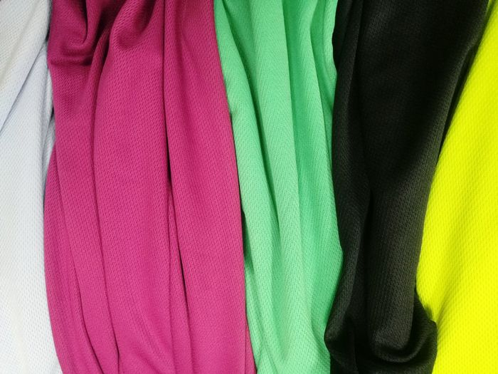 colorful fabric Multi Colored Backgrounds Full Frame Textile Variation Textured  Close-up Green Color Crumpled Fabric Cloth Clothes Material Laundry