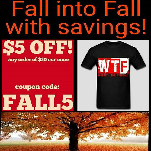 FALL5 and get $5 of any order of $30 or more! This deal ends tomorrow night so don't miss out! Ilivelifeapparel Fall Autumn Valid October fallintofall fashion store website blog livelifetothefullest leaves orange pumpkins apparel ilivelifeill savings sale site entrepreneur marketing promotions sales Link to the WTF shirt in bio.