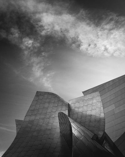 shot and edited on an Iphone Modern ShotOnIphone Architecture Blackandwhite Clouds Disney Concert Hall Lightroomcc Sky