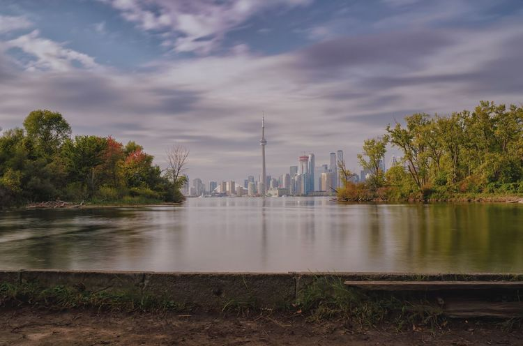 Where Toronto ends EyeEm Best Shots - Nature SONY A7ii Sony Alpha Sony Cityscape EyeEm Best Edits EyeEmBestPics EyeEm Gallery EyeEmNewHere EyeEm Best Shots Sky Tree Travel Destinations Cloud - Sky Water Architecture Built Structure Tourism Travel Reflection River City Outdoors No People Building Exterior Nature Beauty In Nature Day