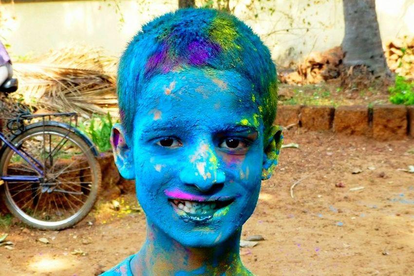 Holly celebration blue style
