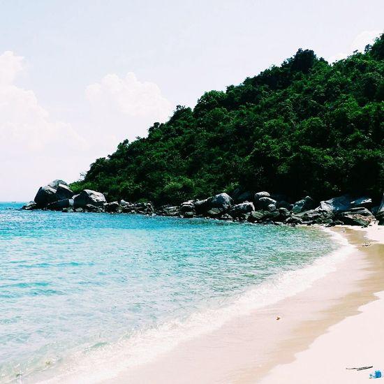 Beach In Vietnam Beautiful Blue Green And Sky