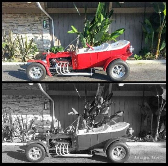 Blackandwhite Taking Photos Color Cars Hot Rod