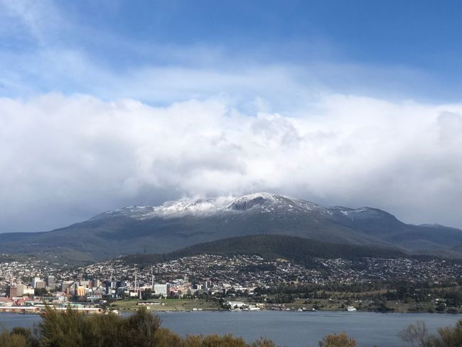 No Wellington, Hobart, tasmania Snowcapped Mountain Snow Mountain Australian Landscape Australia Tasmania Hobart Sky Cloud - Sky Mountain Water Architecture Built Structure City