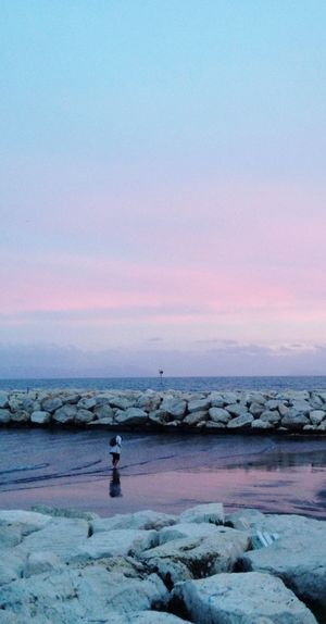 Pink sea Pinkasea Sunset Beauty In Nature Nature Water Scenics Tranquility Tranquil Scene