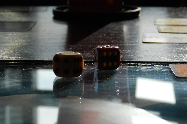 Close-Up Of Dices