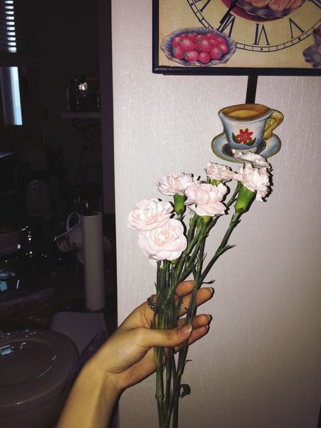Flowers At Kitchen Kitchen Light Pink Pink Flower Pink My House House At Home HomeAlone