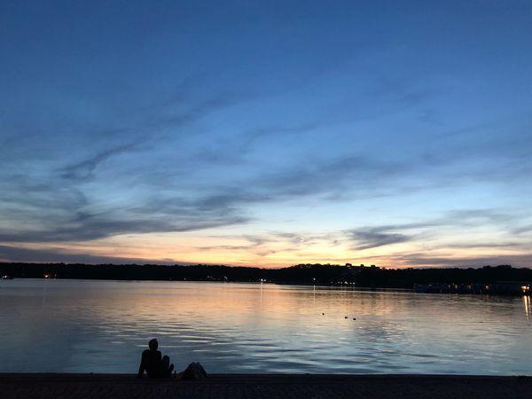 Sonnenuntergang am Tegeler See, Berlin Sundown Sunset Berlin Tegel Berlin Water Sky Cloud - Sky Beauty In Nature Scenics - Nature Sunset Tranquil Scene Nature Lake Blue Outdoors EyeEmNewHere