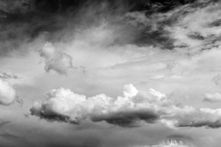 Black and white dramatic sky and white and gray clouds Backgrounds Beauty In Nature Cloud - Sky Day Low Angle View Nature No People Outdoors Scenics Sky Sky Only Tranquility