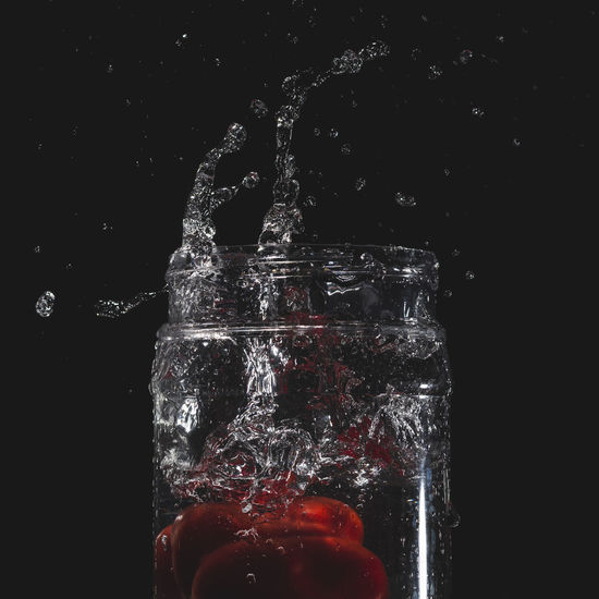 Red Capsicum and Some Water Splashes Black Background Black Background Capsicum Capsicum Pepper Flash Photography Focus On Foreground Freeze Motion No People One Subject Red Red Capsicum Splashing Studio Shot Water Water Splash