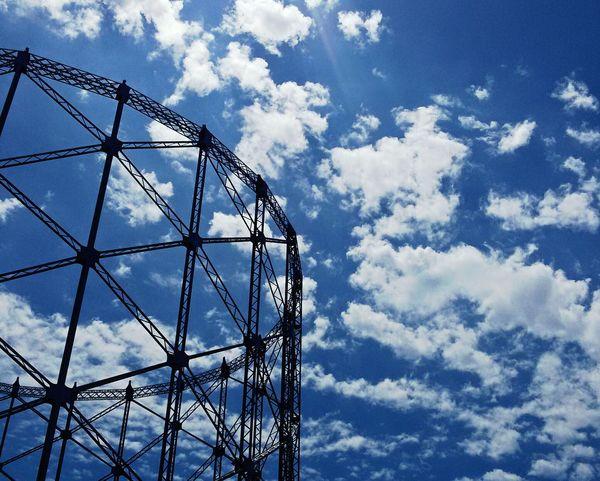 Gazometro. Low Angle View Cloud - Sky Architecture No People Industrial Architecture Industrial Industrial Archeology