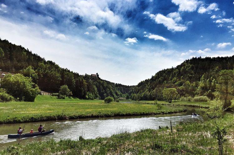 Canoeing Wiesent Burg Rabeneck Franconianswitzerland Franconia Franken Fränkische Schweiz Oberfranken Paddeln