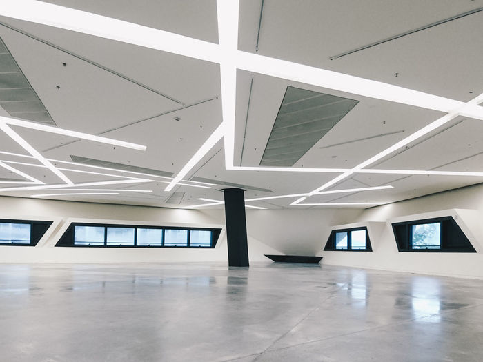 View of modern building interior