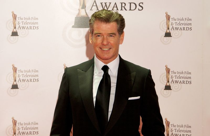 Casual Clothing Celebrity Close-up Front View James Bond Leisure Activity Lifestyles Pierce Brosnan Portrait Studio Shot
