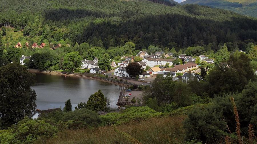 Lochgoilhead - a friendly little village tucked away in the Argyll National Park Tree House Architecture Building Exterior Built Structure Nature Outdoors Beauty In Nature Mountain Water No People Roof Town Plant Landscape Growth Scenics Travel Destinations Day Community village
