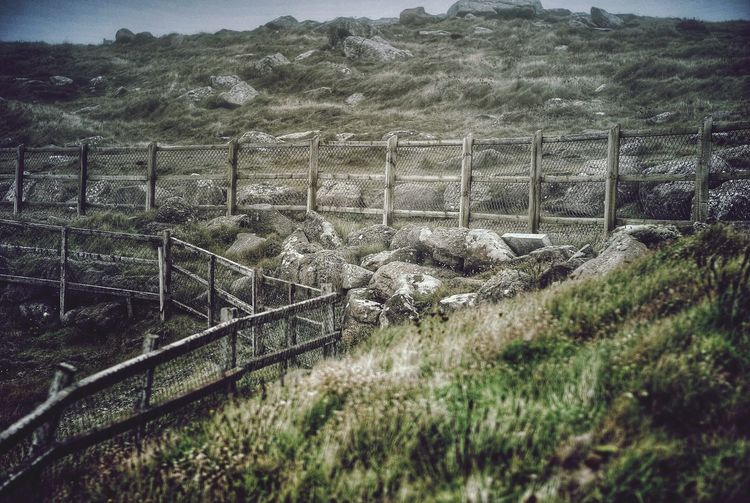 Stunning fence LandsEnd Cornwall Vscocam Byme Photography
