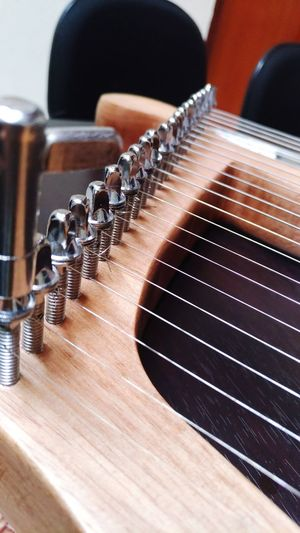 Indoors  Close-up No People Music Arts Culture And Entertainment Musical Instrument Lyra