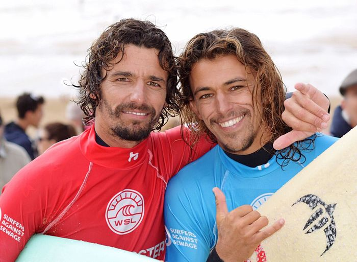 EyeEm Selects boardmaster 2017 winner Ways Of Seeing EyeEm Selects Smiling Portrait Looking At Camera Two People Happiness Beard Togetherness Beach Young Men Outdoors Water Sports Surfers Cornwall Boardmasters 2017 Edouard Delpero And Antoine Delpero Happy People Cool Dudes Fistral Beach Your Ticket To Europe The Week On EyeEm