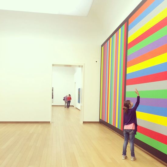 Little Girl enjoying Art counting Lines at Museum Of Modern Art StedelijkMuseum Amsterdam Color_boom