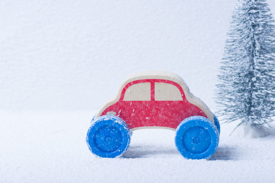 Red Toy Car Traveling In Winter Weather Christmas Driving Holiday Home Postcode Postcards Red Road Safe Travels! Transportation Travel Tree Weather Xmas Blue Car Childhood Full Frame Highway Mountain Play Snow Snowing Toy Vehicle Winter