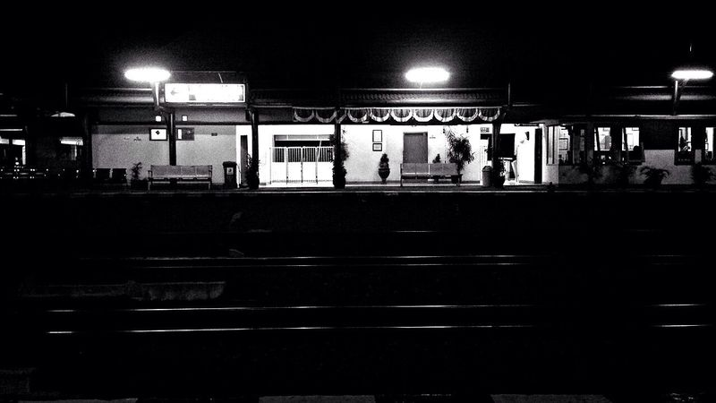 Jogja Train Station Black & White Black And White