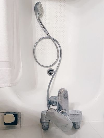 Close-up of objects in bathroom
