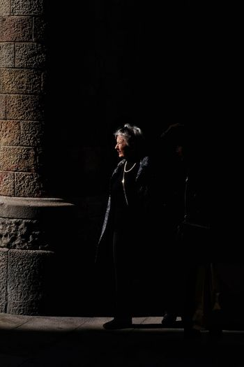 Lightandshadows Streetphoto Streetphotography Candid Candid Photography Light And Shadow Street Photography Shadows & Lights Streetphoto_color People Black Background Full Length Dark Depression - Sadness Focus On Shadow Long Shadow - Shadow