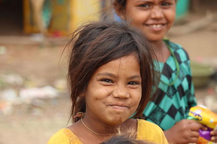 Portrait of happy girl smiling