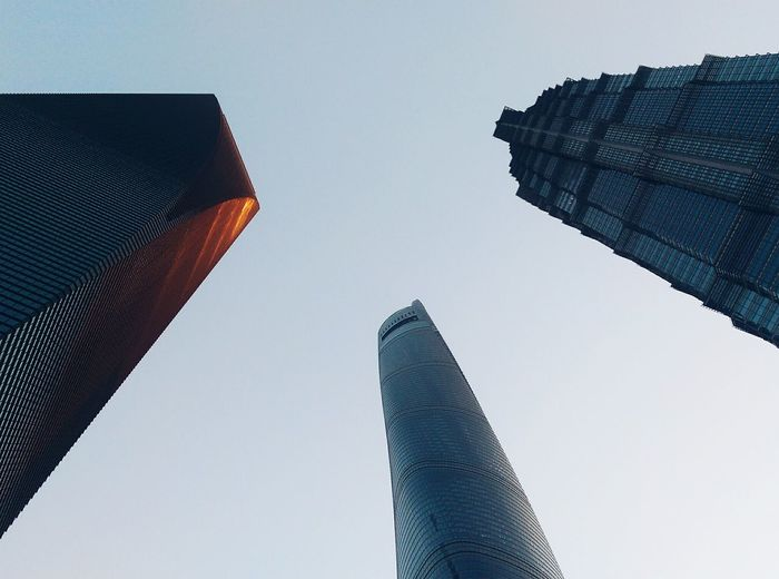 Sunset Shanghai Tower Pudong Skyscraper Urban Skyline Sky Close-up Architecture Tall - High Tower Office Building Cityscape Building Story Capture Tomorrow