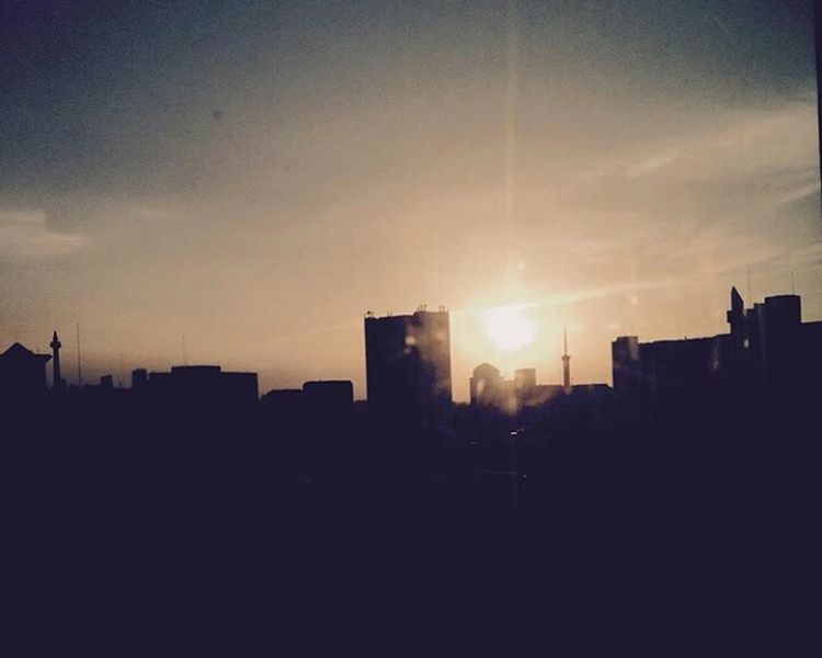 Sunrise Jakarta No People Sky Outdoors Cyberspace Day Sunrise Communication Technology Backgrounds Abstract Internet Financial Figures City Business Urban Skyline Cityscape Pixelated
