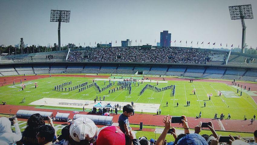 C.U. México #UNAM #micasa UNAM CDMX ❤ Micasa Sport Stadium Soccer Match - Sport Day Sky Outdoors City